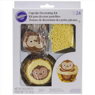 CUPCAKE DECORATING KIT MONKEY  24 CT
