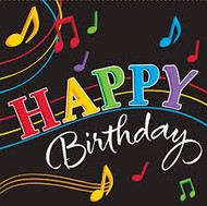 LN NAPKINS HAPPY BIRTHDAY MUSIC NOTES