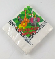 BEV NAPKINS BIRTHDAY SAFARI 16 CT