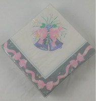 BEV NAPKINS WEDDING BELLS 36 CT