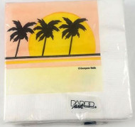 BEV NAPKINS PALM SILHOUETTE 20 CT