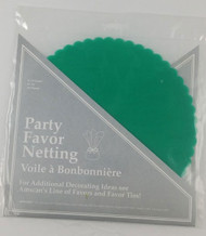 TULLE CIRCLES 8.5 IN. TEAL