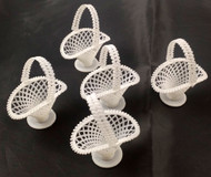 BASKETS PLASTIC HANDLED NUT/CANDY HOLDERS 6 COUNT