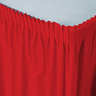 TABLE SKIRT RED CLASSIC