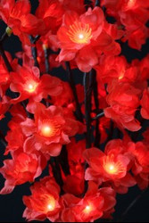 LIGHTED STEMS PLUM BLOSSOM RED NOUVEAU 96 LIGHT