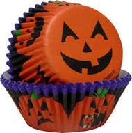 BAKING CUPS JACK-O-LANTERN 75 CT