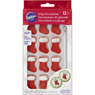 ICING DECO RED STOCKINGS 13 PC