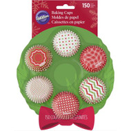 BAKING CUPS MINI HOLIDAY 150 CT