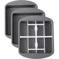 CAKE PAN CHECKERBOARD SQUARE SET