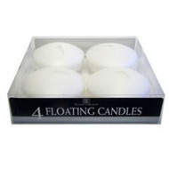 FLOATING CANDLE WHITE 4 PK