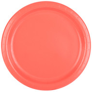 PLATES 9 IN. CORAL 24 CT.