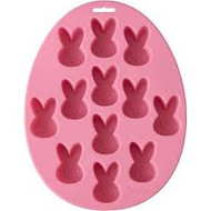 MOLD SILICONE TREAT MOLD BUNNY 12 CAVITY