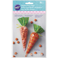 PARTY TREAT BAGS CARROT SHAPED 15 CT