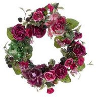 WREATH  CABBAGE AND ROSE 22""