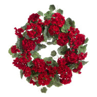 WREATH GERANIUM RED 24""