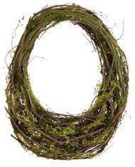 WREATH  MOSS BASKET 21""