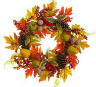 WREATH APPLE/BERRY/BERRY 24""