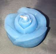 FLOATING CANDLE  ROSE LT.BLUE