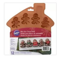 MOLD SILICONE GINGERBREAD BOY/GIRL BITE SIZE