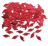 CONFETTI MORTARBOARDS RED