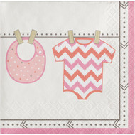 BEV NAPKINS BUNDLE OF JOY GIRL 16CT