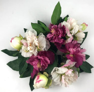 "CANDLERING 3"" PEONY RB/PK"