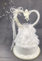 CAKE TOP CUPID/HEART WHITE