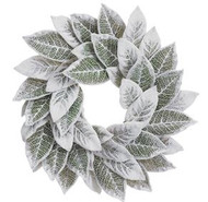 WREATH MAGNOLIA LEAF SNOWED 24""