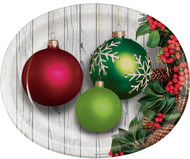 PLATTER OVAL CHRISTMAS ORN 8CT