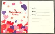 INVITATIONS A VALENTINE'S PARTY 8 CT
