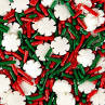 SPRINKLES CHRISTMAS  SNOWFLAKE MIX WHITE, RED, GRN