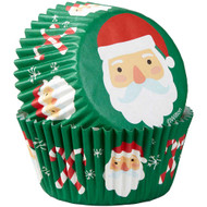 BAKING CUPS SANTA AND CANDY CANES 75CT
