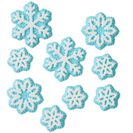 ICING DECO XMAS SNOWFLAKE DOT ASSORTMENT