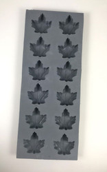 RUBBER CANDY MOLDS MAPLE LEAF LARGE 12 CAVITIES