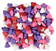 SPRINKLES VALENTINE HEARTS RED, PINK, LAV, WHT