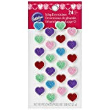 ICING DECO HEART DOT MATRIX R,P,P,G,B 24 COUNT