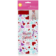 "PARTY TREAT BAGS VALENTINES ""YOU'RE SWEET 20 COUNT"