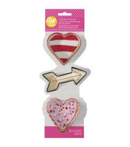 COOKIE CUTTERS VALENTINES 3 PC SET