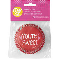 BAKING CUPS VALENTINE YOU'RE SWEET 75CT