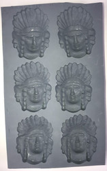 RUBBER CANDY MOLDS INDIAN CHIEF HEAD