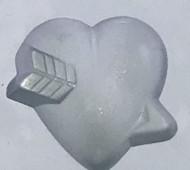 RUBBER CANDY MOLD HEART W/ ARROW