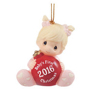 PM161005 ORNAMENT 2016 BABY'S FIRST GIRL