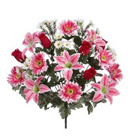 "BUSH LILY/GER DAISY/ROSE MIX 22"" BT/MX"
