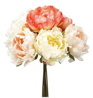 PEONY BOUQUET CORAL/BLUSH 12""