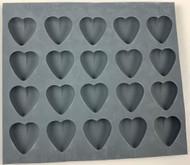 RUBBER CANDY MOLDS HEART 20 CAVITIES