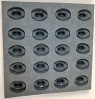 RUBBER CANDY MOLDS COWBOY HAT 20 CAVITIES