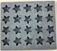 RUBBER CANDY MOLDS STAR 20 CAVITIES