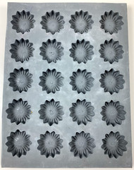 RUBBER CANDY MOLDS DAISY 20 CAVITIES