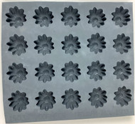 RUBBER CANDY MOLDS DAISY SMALL 20 CAVITIES