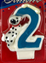 CANDLE #2 DOG BIRTHDAY
